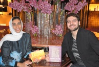Sami Yusuf global composer, musician and humanitarian with Canvas of the Soul, a reviewer with a blurb published on the back cover