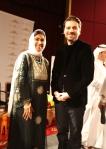 Sami   and Nimah-1- stage Dubai Poetic Heart Festival