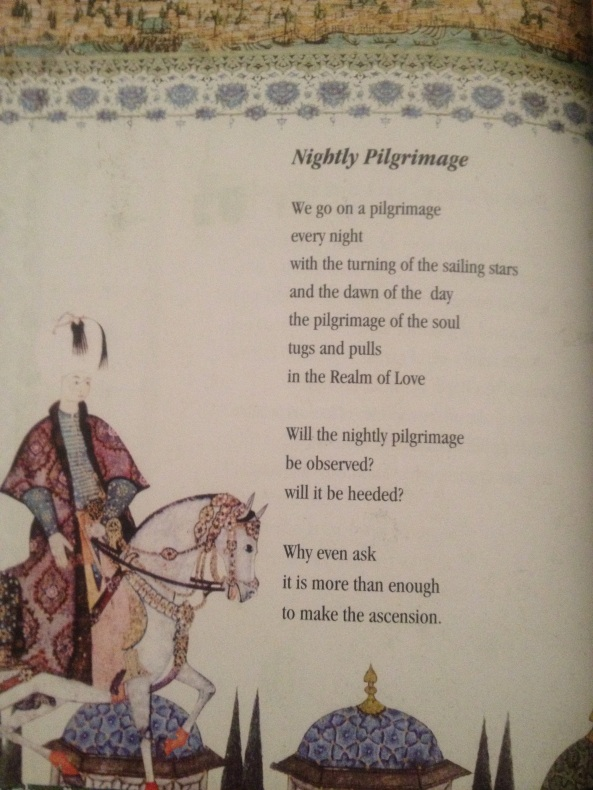 The poem 'Nightly Pilgrimage'  with artwork from Canvas of the Soul
