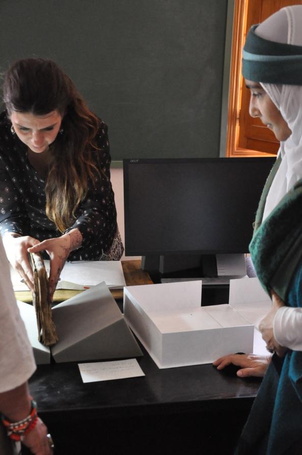 Manuscript workshop wt Adiba Romero, sp collection Al Hikam al Atta'iyyah   Nn July  2015